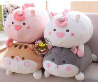 Gối 3D Mèo bông, hamster, kỳ lân unicorn trắng, hồng (60cm)