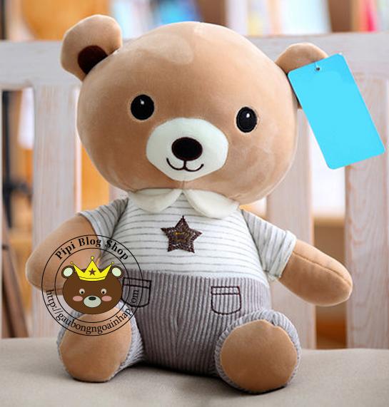 Gấu áo sao xám lông 3D (60cm)