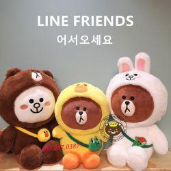 Gối mền Brown Line Friends mẫu mới 2019 (60cm, 1m* 1m5)