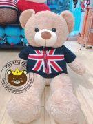 Gấu bông teddy áo khoác cờ Anh (1m)