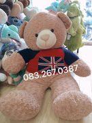 Gấu bông teddy áo len cờ Anh (1m4)
