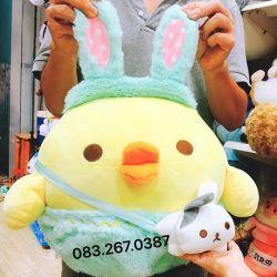 Gối mền Gà Rilak nón Thỏ (50cm)