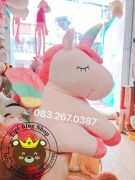 Thú bông Kỳ lân Ngựa 1 sừng 7 màu Unicorn siêu đẹp