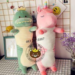 Gối ôm Khủng long/ Ngựa 1 sừng unicorn hàng chính hãng Littlecucu