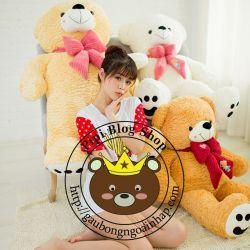 Gấu bông teddy nơ nhung (1m2, 1m4)