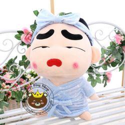 Gấu bông Shin áo khoác tắm sao, môi cong (40cm, 80cm, 1m, 1m2, 1m5)