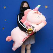 Gấu bông Ngựa 1 sừng Unicorn 7 màu nằm (45cm, 60cm, 90cm, 1m2, 1m4)