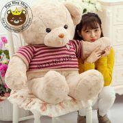 Gấu bông teddy lông xoắn bột siêu mịn Áo len (80cm, 1m2, 1m4)