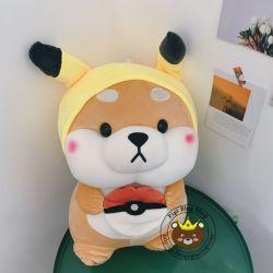 Chó bông Shiba nón pikachu (45cm, 60cm)