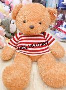 Gấu bông teddy vàng áo len cờ mỹ (1m4)