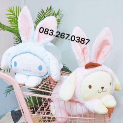 Gối mền Sanrio Thỏ siêu xinh (50cm, mền 1mx1m5)