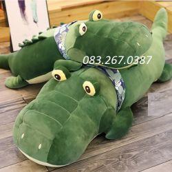 Cá sấu bông quàng khăn Littlecucu (1m2)