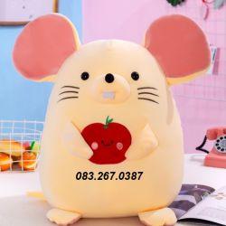 Chuột bông trái cây lông siêu mềm (25cm, 45cm, 65cm)