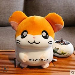 Chuột bông Hamster nâu vàng lông 3D (45cm)