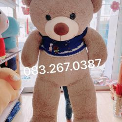 Gấu bông teddy Jane bear áo len gấu xanh (1m4)