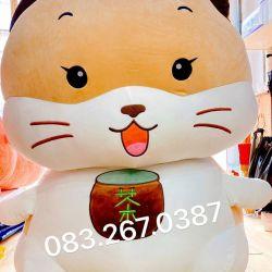 Mèo bông uống trà size cực đại 1m5