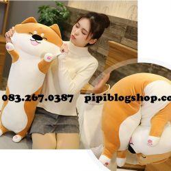 Gối ôm chó Shiba hàng chính hãng Littlecucu (70cm)