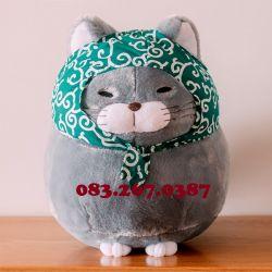 Mèo bông Amuse xám (40cm, 60cm)