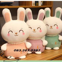 Thỏ bông dây chuyền ngọc trai sang trọng dễ thương (35cm, 45cm ,55cm)
