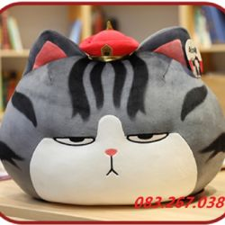 Gối mèo hoàng thượng hàng chính hãng Littlecucu (50cm)