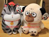 Gấu bông Mèo Hoàng thượng / Chó Cách Cách đứng (40cm, 55cm, 70cm)