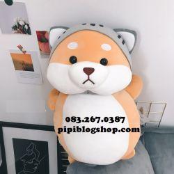 Cho bong Shiba dung cosplay meo (60cm, 1m)