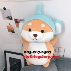 Chó bông Shiba đứng cosplay Voi (60cm, 1m)