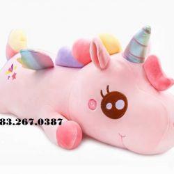 Ngựa bông unicorn cầu vồng (60cm)