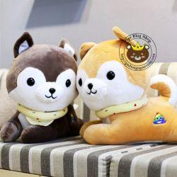 Chó bông vòng cổ vàng (60cm)