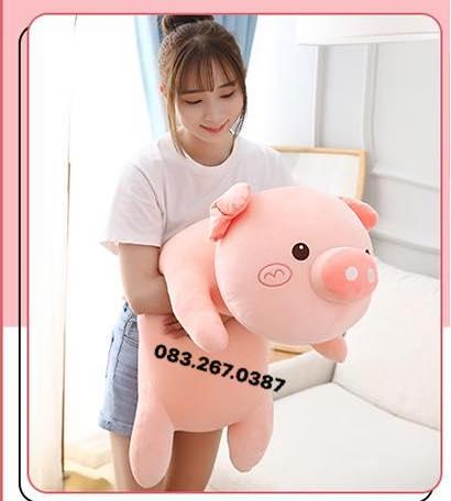 Heo bông nằm Bubble Pig (70cm, 1m)