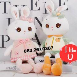 Thỏ bông áo cute (60cm, 80cm)