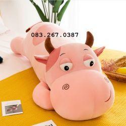 Bò sữa hồng lười cute (60cm, 80cm, 1m, 1m2)