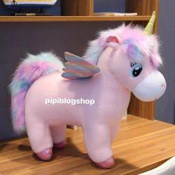 Ngựa bông unicorn lông cừu (60cm, 1m)