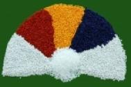 Hạt nhựa màu là màu gạch ốp