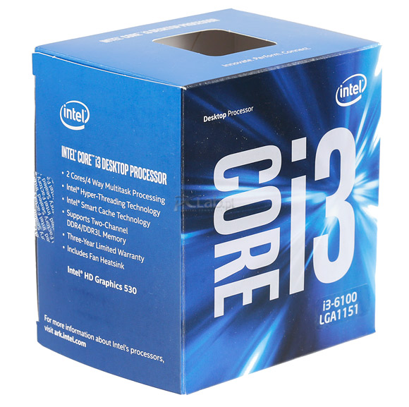 CPU Intel Skylake Core i3-6100 3.7ghz