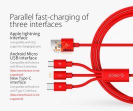 Cáp sạc điện thoại đa năng 3 đầu Orico UTS-12