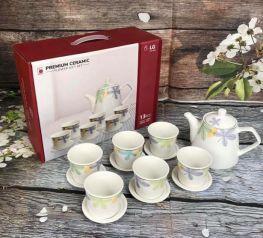Bộ ấm chén trà cao cấp DONGHWA hàng khuyến mại của LG đẹp xuất sắc.