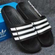 Dép Adidas Duramo chính hãng đen trắng