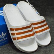 Dép Adidas Duramo Trắng Nâu