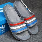 Dép Adidas Duramo chính hãng xám đỏ trắng xanh