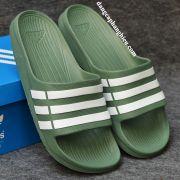 Dép Adidas Duramo chính hãng xanh bộ đội sọc trắng