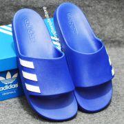 Dép Adidas Aqualette chính hãng màu xanh dương sọc trắng