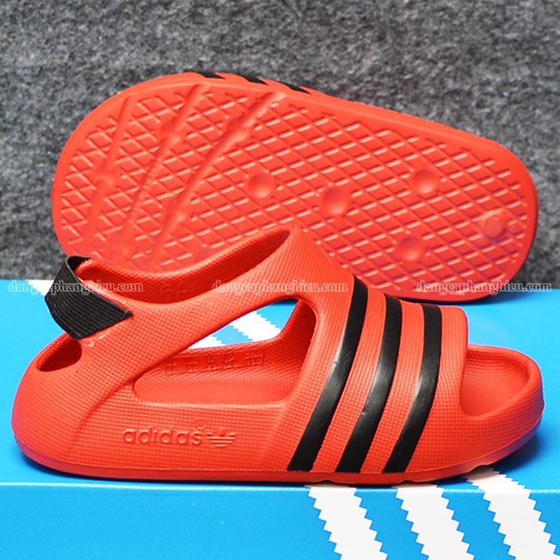 015421 Adidas Adilette Red Black 2