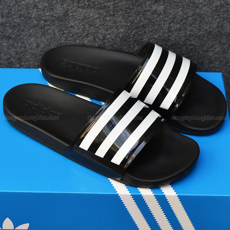 015371 Adidas Cloudfoam đen sọc trắng 1