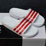 Adidas Duramo màu trắng sọc đỏ