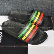 Adidas Duramo màu đen sọc lá vàng đỏ