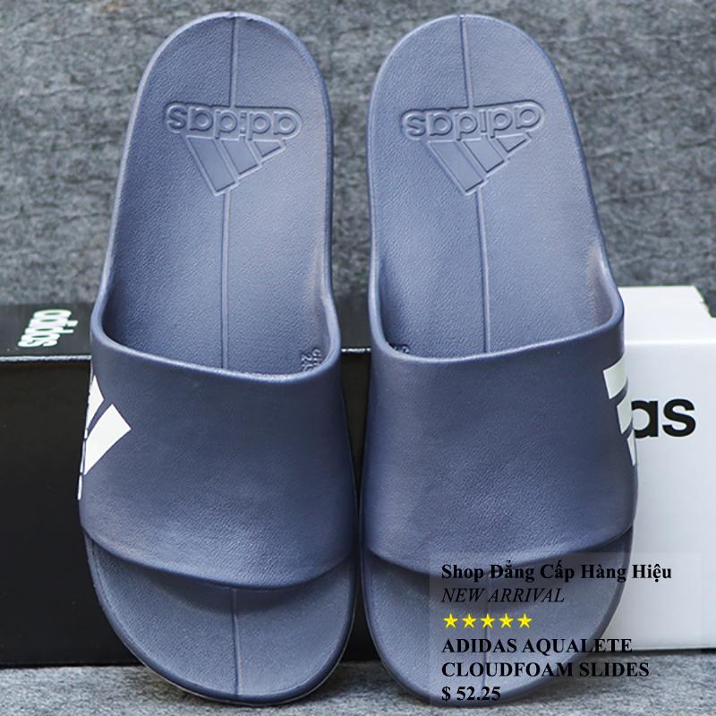 Dép Adidas Aqualette Cloudfoam màu xanh dương nhạt đế trắng
