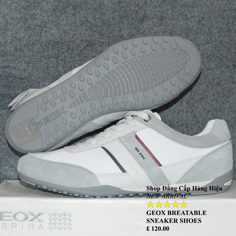 Giày Geox Chính Hãng Biết Thở màu trắng