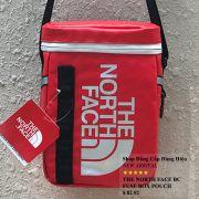 Túi đeo chéo The North Face BC Fuse Box Pounch màu đỏ logo bạc