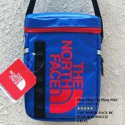 Túi đeo chéo The North Face BC Fuse Box Pounch màu xanh dương logo đỏ